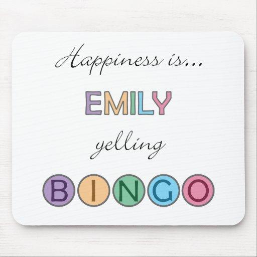Happiness is Emily yelling BINGO Mousepad