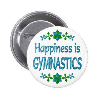 Happiness is Gymnastics 2 Inch Round Button