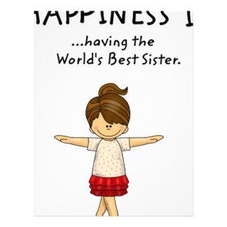 Happiness is ...Having The World's Best Sister..pn Letterhead