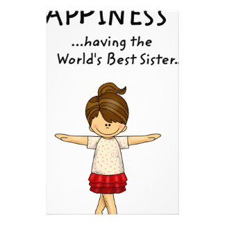 Happiness is ...Having The World's Best Sister..pn Stationery