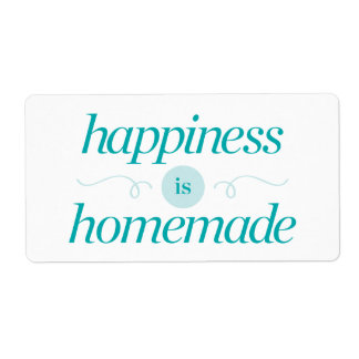 Happiness is Homemade Shipping Label