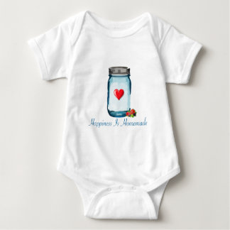 HAPPINESS IS HOMEMADE (MASON JAR) BABY BODYSUIT