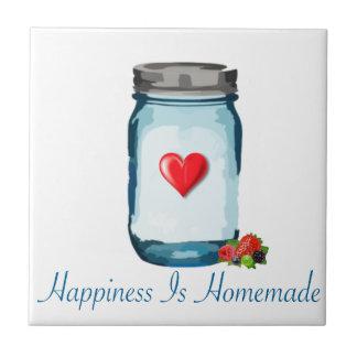HAPPINESS IS HOMEMADE (MASON JAR) TILES