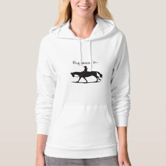Happiness is....Horse hoodie! Hoodie