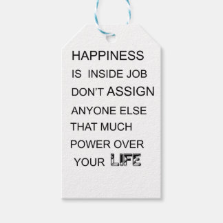 happiness is in inside job don't assign anyone  el pack of gift tags