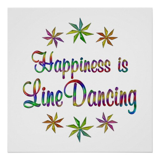 Happiness is Line Dancing Print