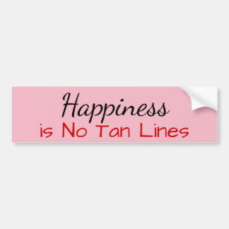 Happiness is No Tan Lines Bumper Sticker