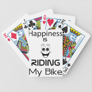 Happiness Is Riding My Bike Bicycle Playing Cards