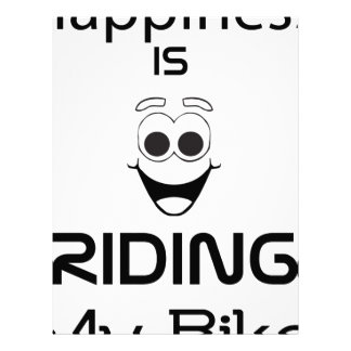 Happiness Is Riding My Bike Letterhead