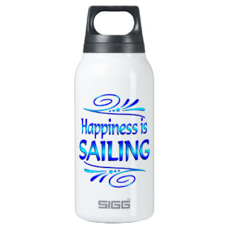Happiness is SAILING Insulated Water Bottle