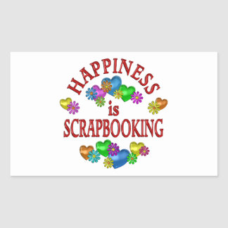 Happiness is Scrapbooking Rectangle Sticker