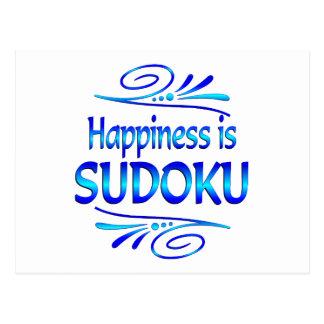 Happiness is SUDOKU Postcard