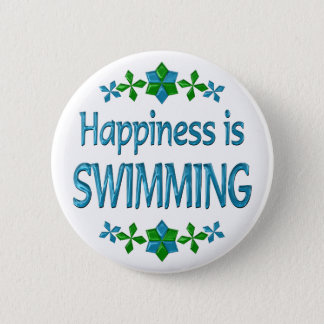 Happiness is Swimming 2 Inch Round Button