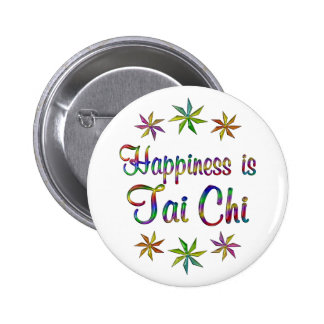 Happiness is Tai Chi 2 Inch Round Button