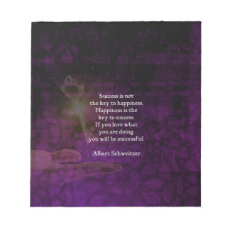 Happiness Is The Key To Success Uplifting Quote Notepad