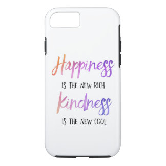 """""""Happiness is the new rich"""" Cell Phone Case"""