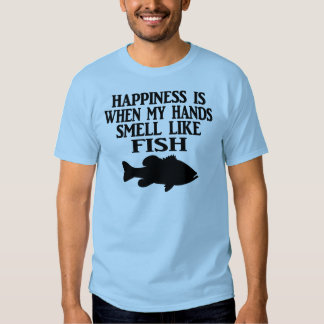 HAPPINESS IS WHEN MY HANDS SMELL LIKE FISH - MEN'S SHIRTS