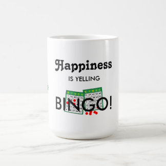 Happiness Is Yelling Bingo FUN! Bingo Lovers Mug