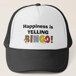 Happiness Is Yelling Bingo hat