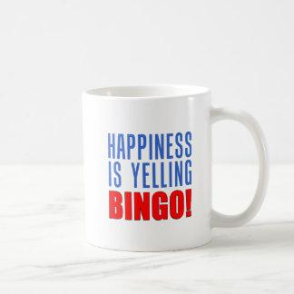 Happiness Is Yelling Bingo Mug