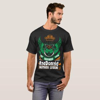 Happiness Luck MacDonald Legend Irish St Patrick T-Shirt