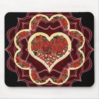 happiness mandala mouse pad
