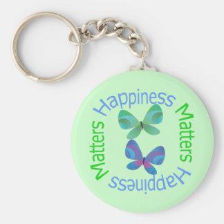Happiness Matters Key Chain