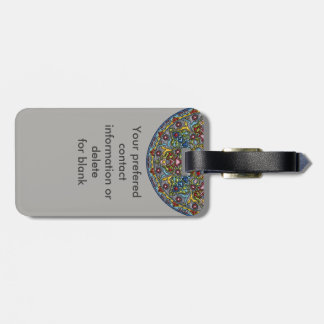Happiness Medallion Luggage Tag
