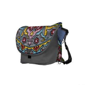 Happiness Medallion Messenger Bags