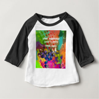 Happiness message from Voltaire. Baby T-Shirt