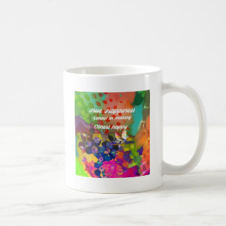 Happiness message from Voltaire. Coffee Mug