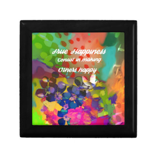 Happiness message from Voltaire. Jewelry Box