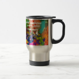 Happiness message from Voltaire. Travel Mug