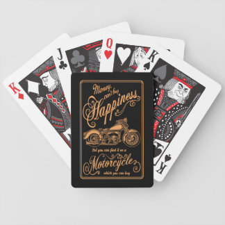 Happiness - Motorcycle Bicycle Playing Cards