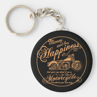 Happiness - Motorcycle Keychain