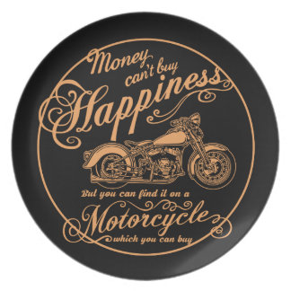 Happiness - Motorcycle Plate