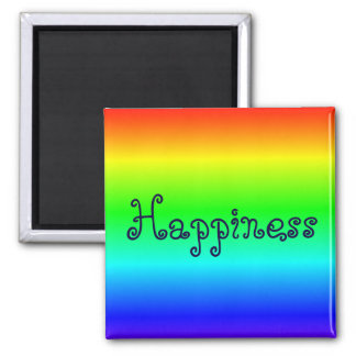 Happiness multi-colored magnet