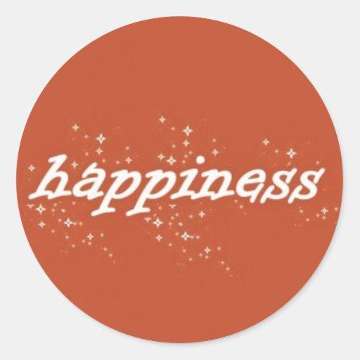 Happiness on Orange Stickers