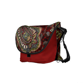Happiness Paisley Boho Gems Courier Bags