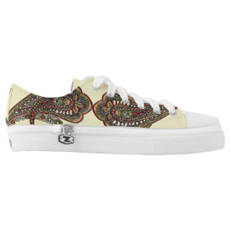 Happiness Paisley Boho Gems Low-Top Sneakers