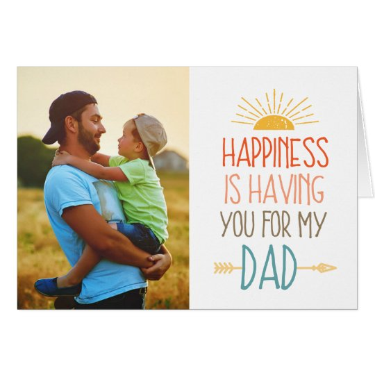 Happiness   Photo Father's Day Card
