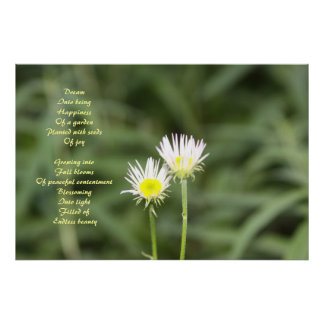 Happiness poem poster