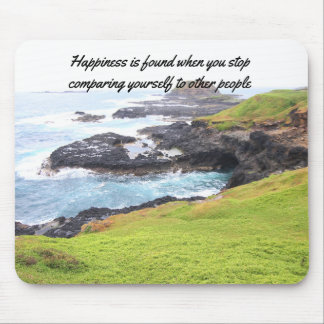 Happiness quote mouse pad
