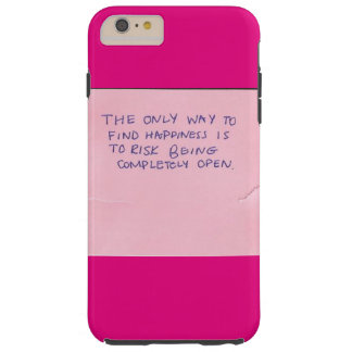Happiness Quote Tough iPhone 6 Plus Case