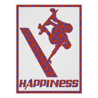 Happiness: Skateboarding Poster