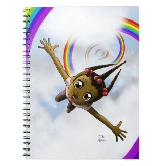 """""""Happiness"""" Spiral Notebooks"""