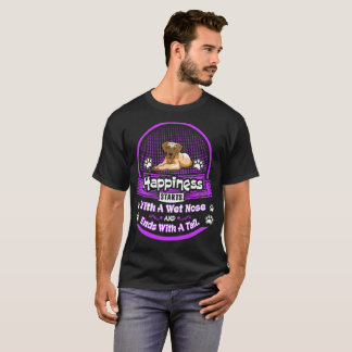 Happiness Starts Wet Nose Ends Tail Great Dane Tee