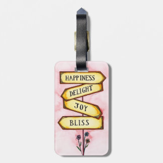 Happiness Street Sign Luggage Tag