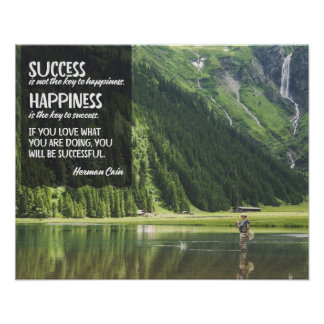 Happiness The Key To Success Poster