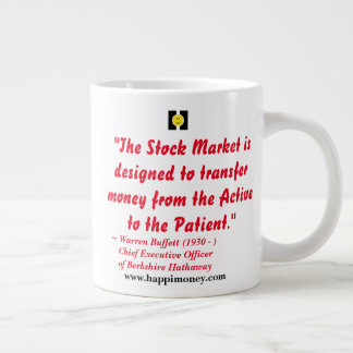 happiquotes - The stock market Large Coffee Mug